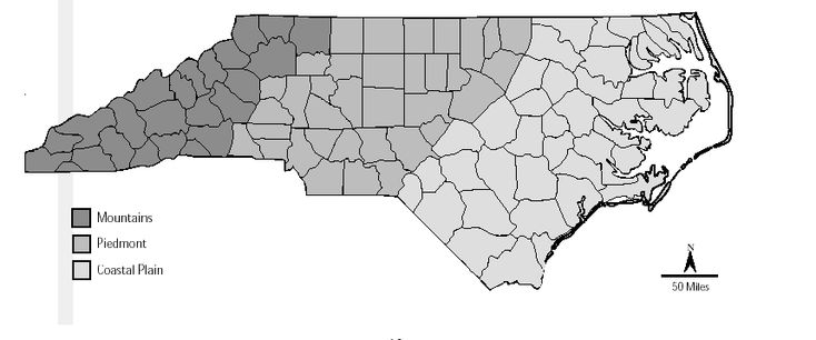 Gives an idea of the different climates just in North Carolina.... I'm in the middle of the Mountains area!
