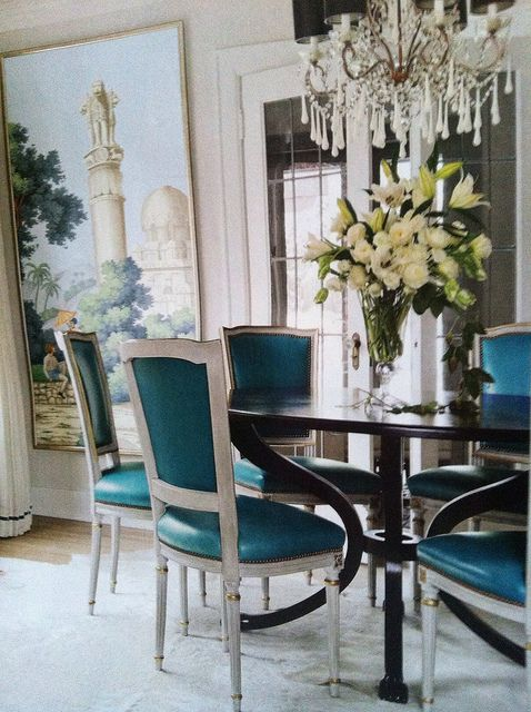 285 best images about the nate berkus touch on pinterest for Teal dining room decorating ideas