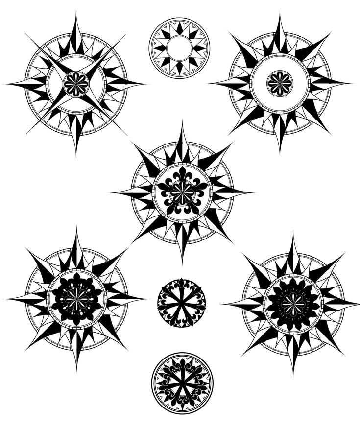 Compass Tattoo Line Drawing : Simple compass rose tattoo google search other tattoos