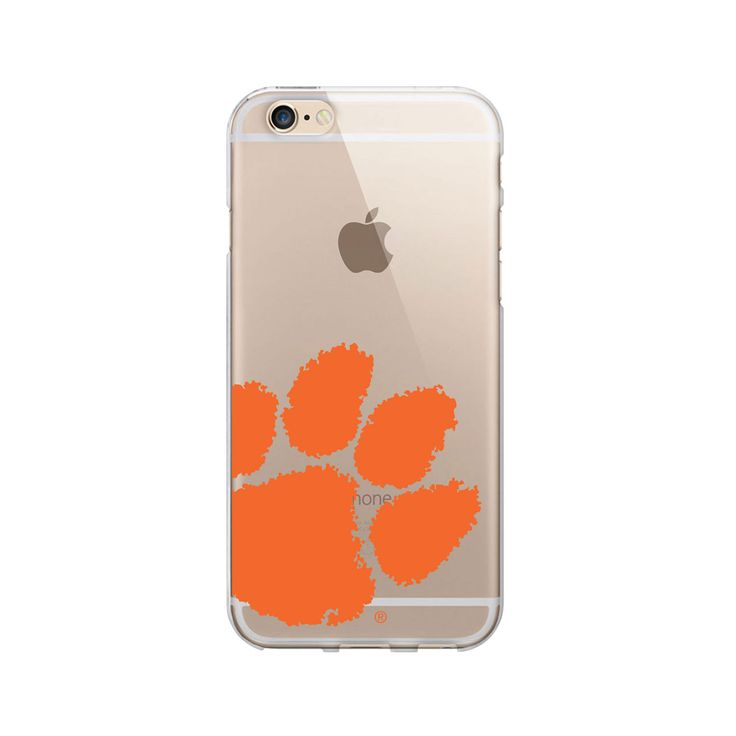 Clemson University Clear Phone Case, Cropped