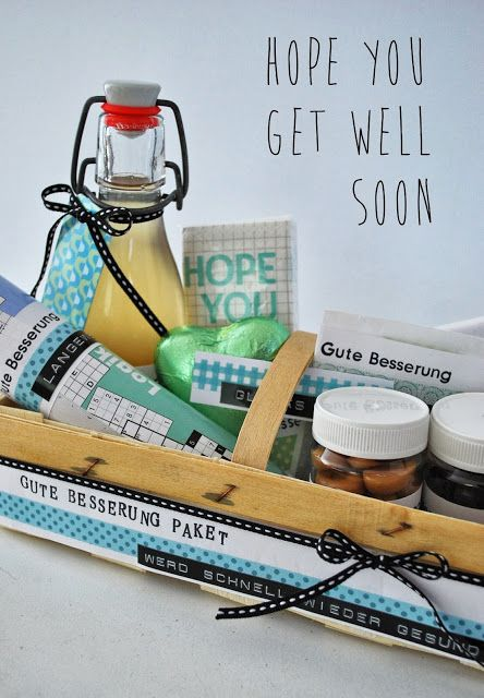 Gute Besserung Paket - Get well soon package from Mamas Kram