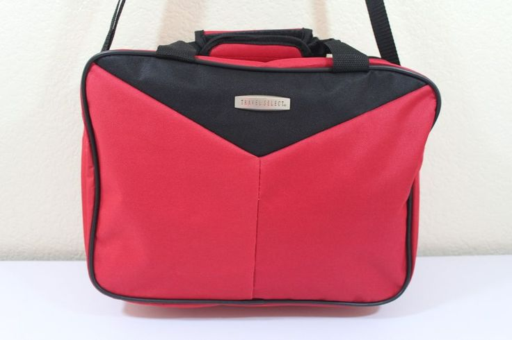 """TRAVEL SELECT small carry-on luggage RED pre-owned 14"""" x 11"""" x 6"""" approx. #travelselect"""