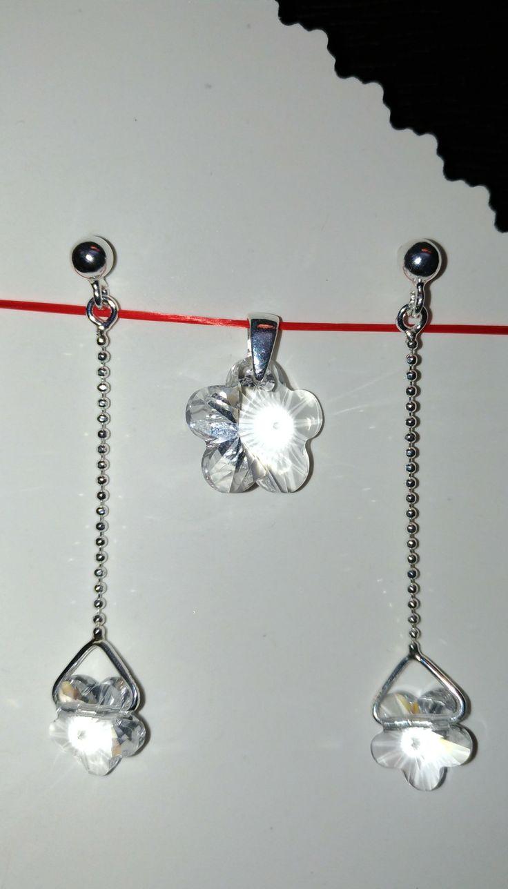 Set din argint cu Swarovski  Cristal