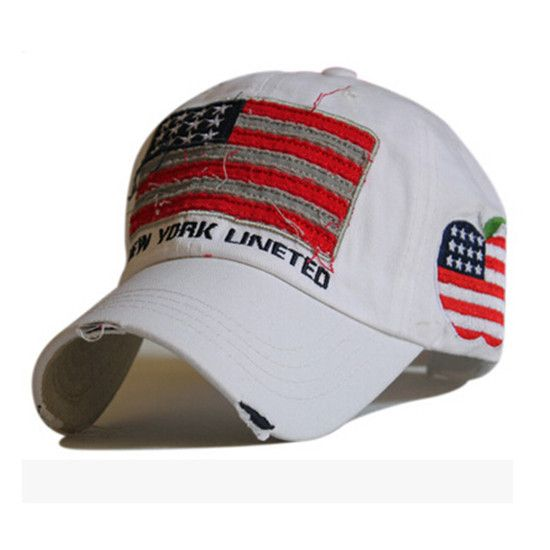 camo baseball hat with american flag cap men edge grinding washed cotton caps military