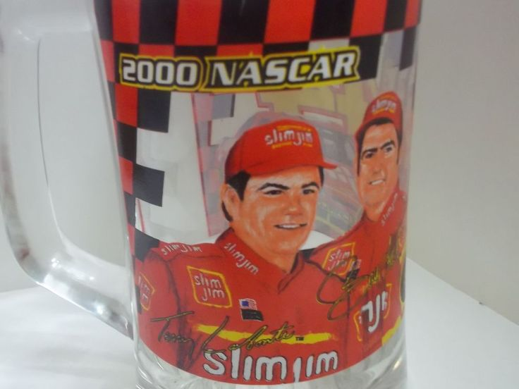 2000 #NASCAR Busch Series SLIM JIM RACING TEAM #44 GLASS BEER MUG http://www.ebay.com/itm/152572314418 via @eBay