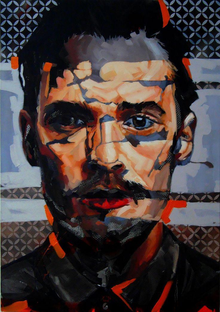 """""""Fragmentation 1"""" by Corne Eksteen. Oil on canvas, 700 x 1000mm. 2015"""