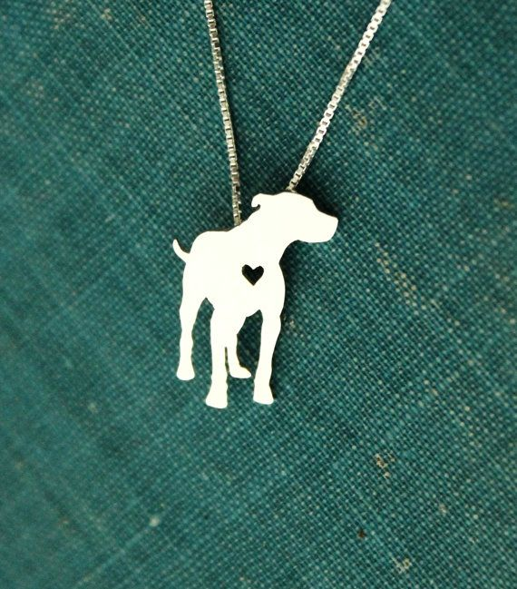 Pitt Bull, sterling silver necklace, hand made every day wear, pet lover jewelry, family pet, pendant on Etsy, $40.00