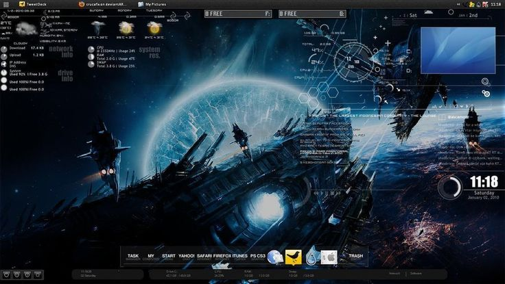 The 118 best rainmeter skins images on pinterest clock clocks and my rainmeter desktop by crucafix on deviantart publicscrutiny Gallery