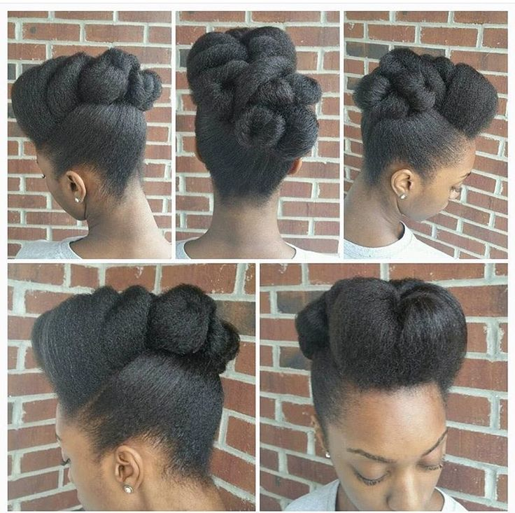 Blowdried pinup. Lovely soft intricacy on this. [The Beauty Of Natural Hair Board]