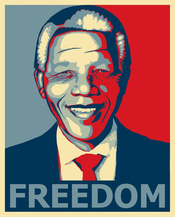 Nelson Mandela -The Design Tabloid - He has shown us the true meaning of Freedom.