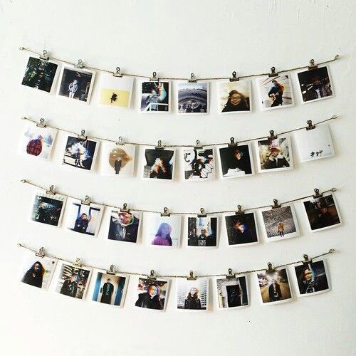 tumblr photography baby diy ideas pinterest photo walls hanging polaroids and pictures. Black Bedroom Furniture Sets. Home Design Ideas