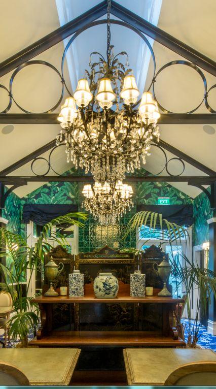 The Palm Lounge of Hulbert House, Queenstown, NZ