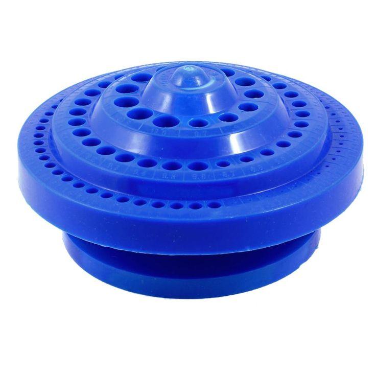 CSS Forme Ronde En Plastique Dur Foret Cas De Stockage-Bleu