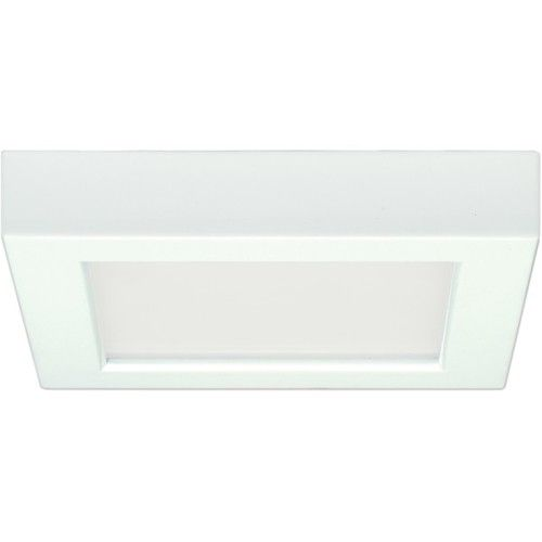 """Satco - 10.5 W 5"""""""" Flush Mount LED Fixture 3000K Square Shape White Finish 120V - S9327"""