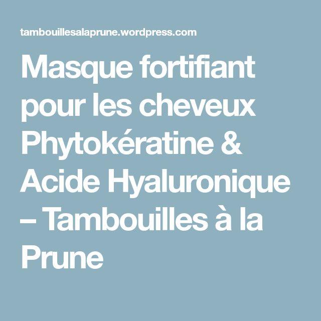 Masque fortifiant pour les cheveux Phytokératine & Acide Hyaluronique – Tambouilles à la Prune