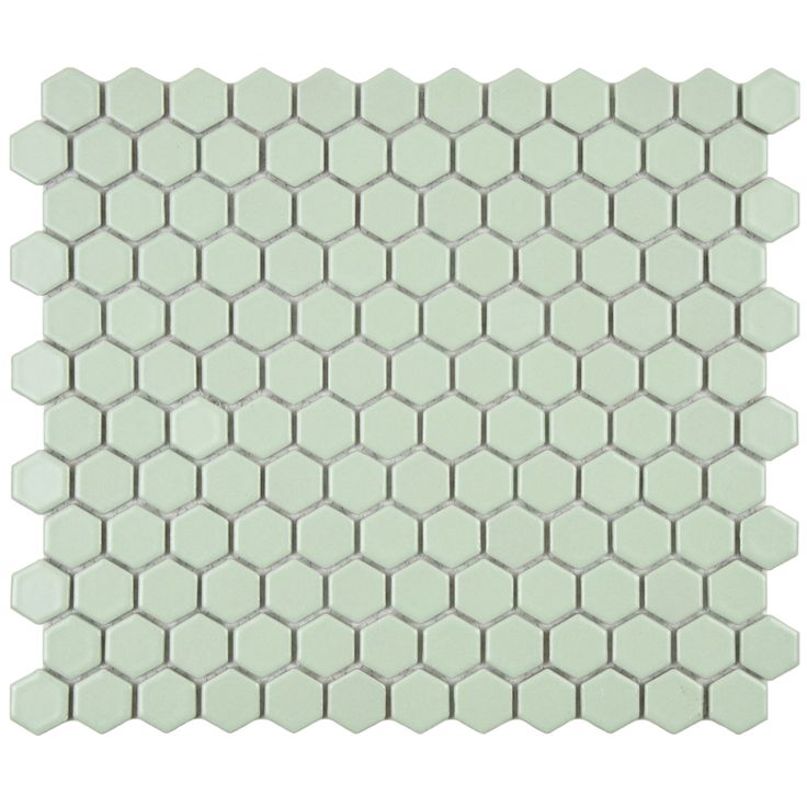 Somertile 10 25x11 75 Inch Victorian Hex Matte Light Green Porcelain Mosaic Floor And Wall Tile 10 Tiles 8 56 Sqft Porcelain Mosaic Tile Porcelain Mosaic Tiles