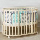 Incanto кровать детская incanto mimi 7 в 1  — 9900р. ----------- производитель: incanto  особенностидетской кроватки incanto mimi 7 в 1:экологичная и безопасная кроватка-трансформер для детей от рождения до 5 лет. из круглой кроватки для малышей до полугода, она трансформируется в овальную кровать для детей до 5-ти лет. высокое качество обработки массива березы, а также качественные краски и лаки делают эту кроватку максимально безопасной и долговечной. кроватка оборудована тремя уровнями…
