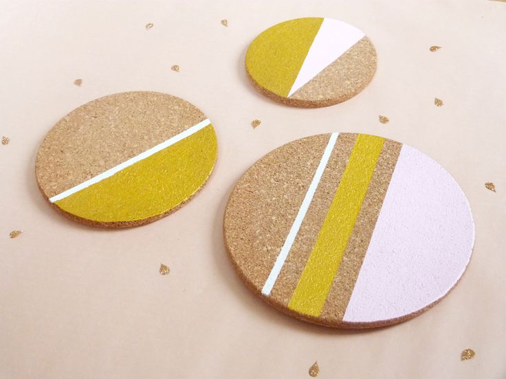 DIY yellow coaster for third repeat of yellow!!! ♡