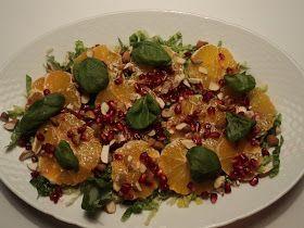Appelsin granatæble salat