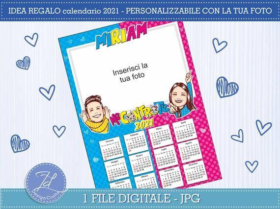 Calendario Digitale 2021 ME AGAINST YOU   Calendar 2021  Personalized | Digital calendar