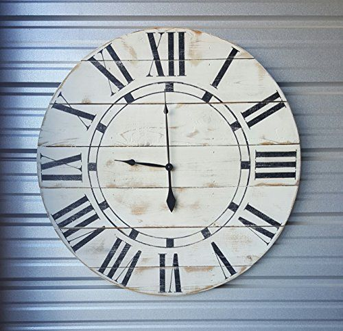 "22in ""Riley"" reclaimed wood wall clock, fixer upper style clock, farmhouse wall clock, oversized wall clock, rustic clock, shabby chic clock, distressed clock  #22in #Chic #Clock #Distressed #Farmhouse #fixer #Oversized #reclaimed #Riley #Rustic #RusticWallClock #Shabby #Style #upper #Wall #Wood The Rustic Clock"