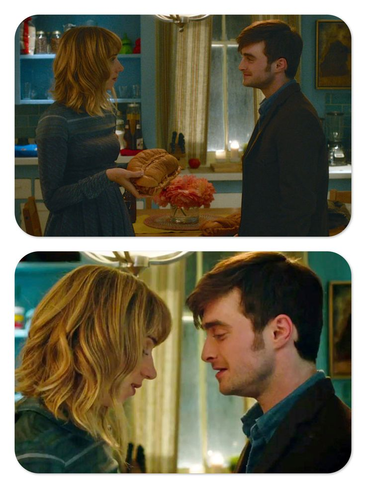 Zoe Kazan as Chantry and Daniel Radcliffe as Wallace, in What If (2013)