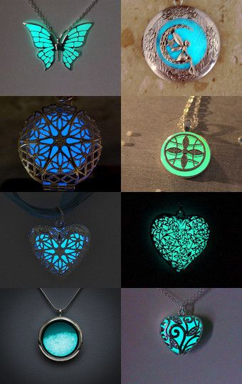 Glowing necklaces by Stuart McWilliam on Etsy--Pinned with TreasuryPin.com