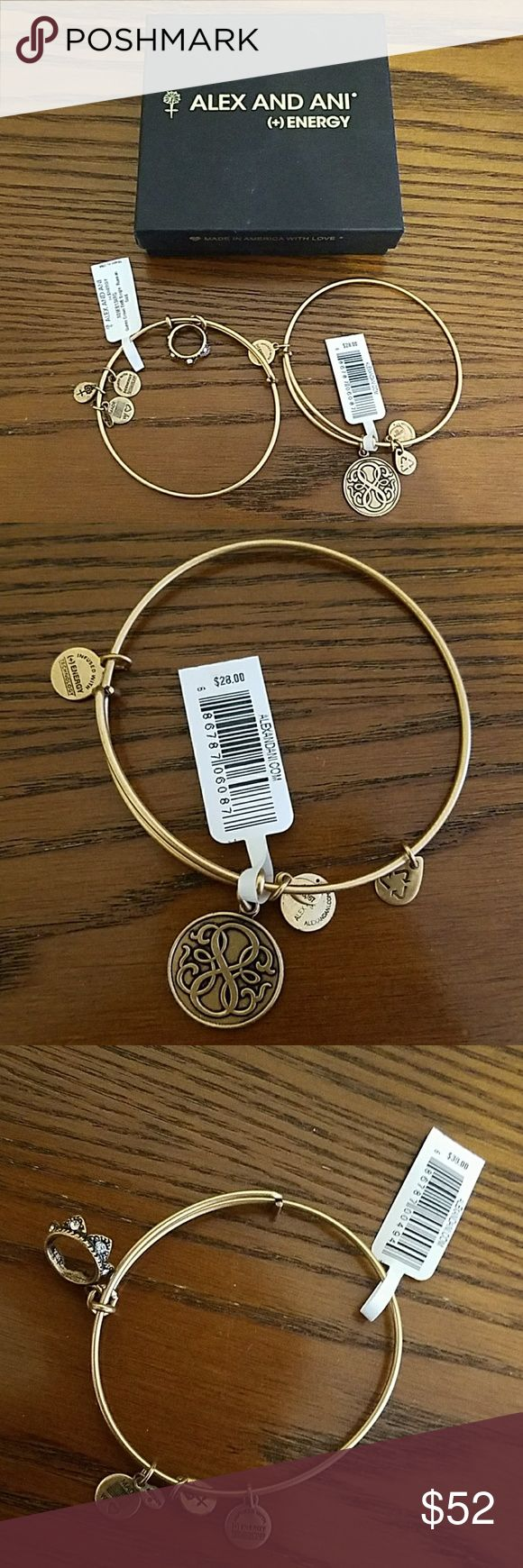 NWT Alex And Ani Bogo Set of Bangles with Box Buy 1 get 1 50% off. Set of 2 NWT Alex and Ani Russian Gold Bangles with original box and care card. 100% Authentic. Path of Life- $28. Queen Crown- $38. No trades. Smoke and pet free home. Reasonable offers accepted. Thanks for visiting my closet! Crown sold separately is $30. Path of Life sold separately is $22. Alex & Ani Jewelry Bracelets