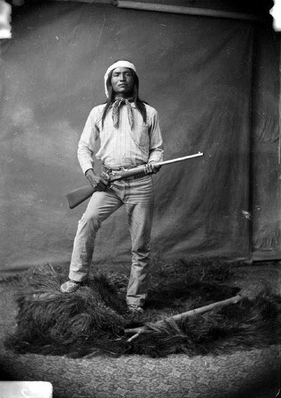 Haskay-bay-nay-ntayl (c. 1860 - c. 1894), better known as the Apache Kid, was a White Mountain Apache scout, and later a renegade, active in the American states of Arizona and New Mexico, and the Mexican states of Sonora and Chihuahua in the late 19th and possibly the early 20th centuries.