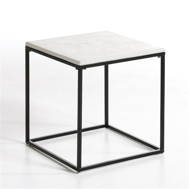 bout de canap m tal laqu plateau marbre romy am pm prix avis notation livraison de. Black Bedroom Furniture Sets. Home Design Ideas
