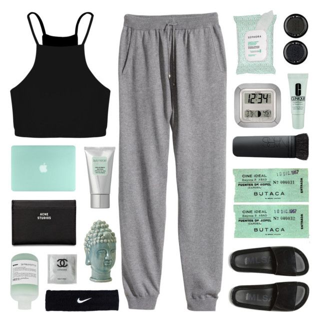 """""""HEARTBEAT // RTD!!!"""" by emmas-fashion-diary ❤ liked on Polyvore featuring H&M, Boohoo, Melissa, La Crosse Technology, Acne Studios, Sephora Collection, NARS Cosmetics, NIKE, Home Decorators Collection and Laura Mercier"""