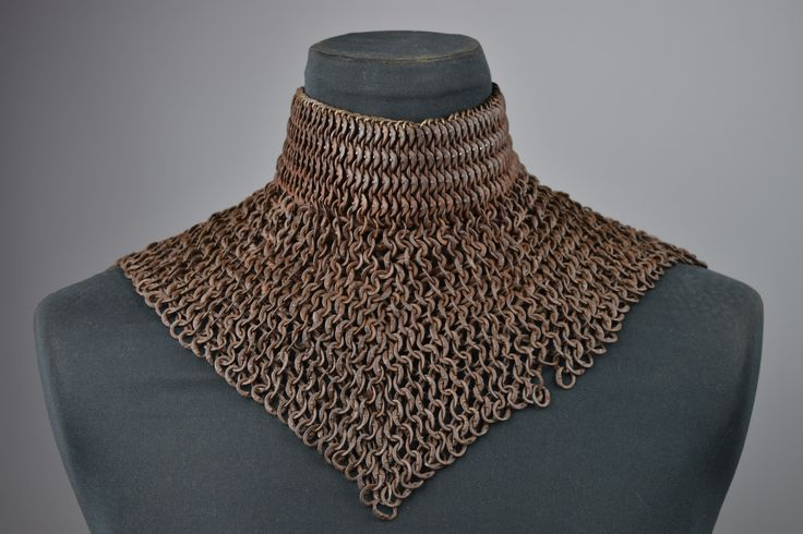 Very rare mail standard, German 15th century. this is an example of high quality mail defence worn as a supplement to plate armour.