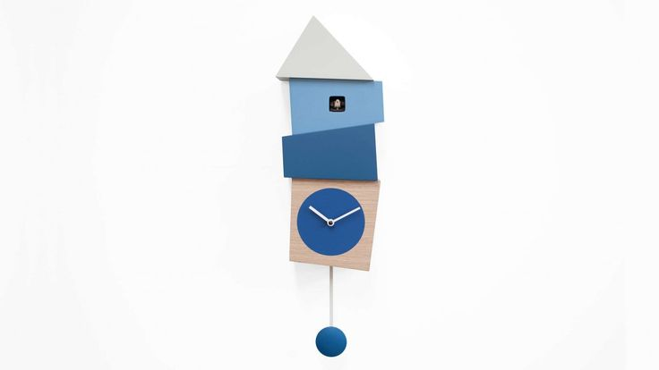 Crooked, designed by Alberto Sala, is an amusing cuckoo clock of unconventional style with crooked and uneven shapes that intensify its impactful design. The recurrence of uneven shapes and cheerful colours skilfully mixed by the designer and applied from the base to the roof of the cuckoo 'house', make it unique.