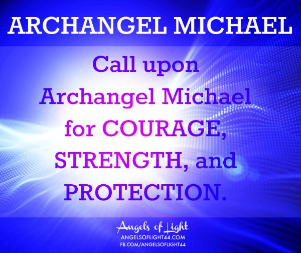 Archangel Michael Protection Strength Courage Blue Light