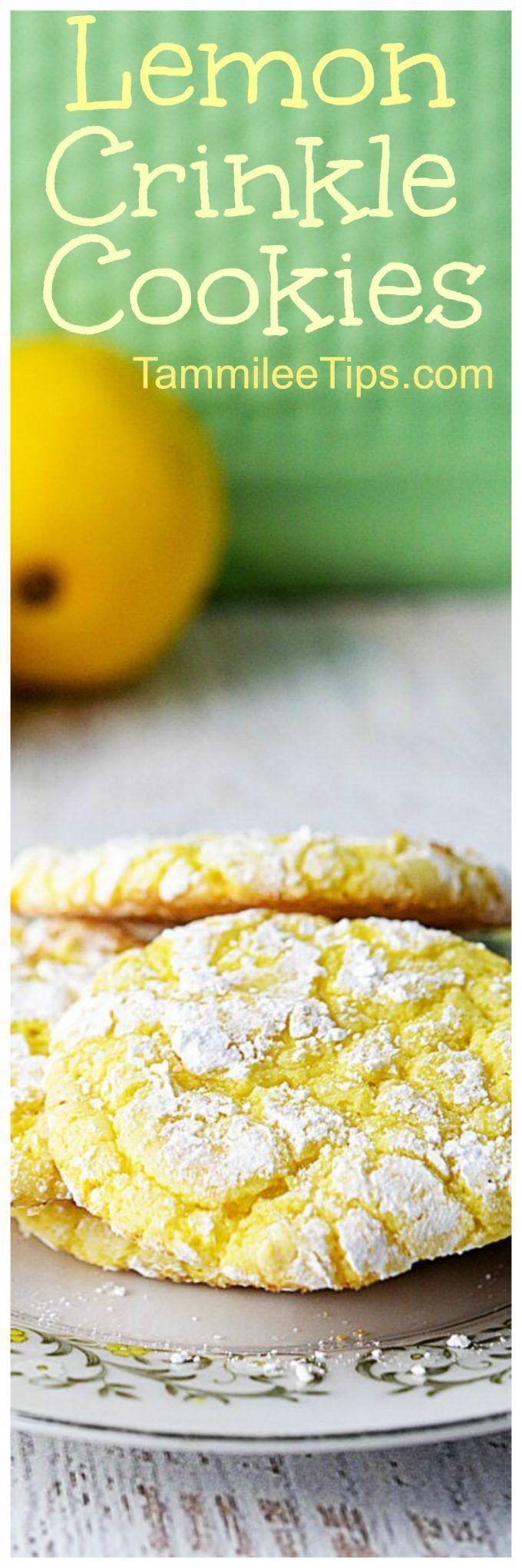 Easy Lemon Cookies from a cake mix that everyone will love. soft, chewy, easy perfect for Easter, Spring, birthday parties, school parties, or any day you want a sweet treat recipe. via @tammileetips