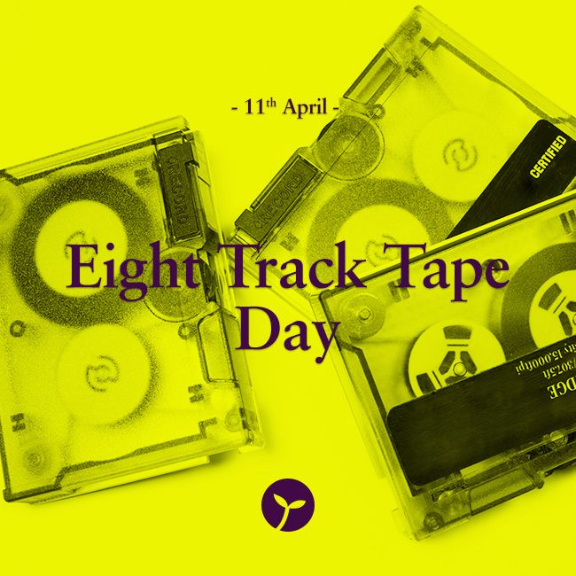 Eight Track Tape Day is observed today on April 11, 2015. The day remembers the music era of the sixties and seventies. Groovey! #EightTrackTapeDay #holiday #holidays #sprout #freedomtogrow