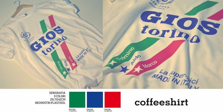 Coffeeshirt per #Gios #Torino. #Stampa serigrafica 3 colori.