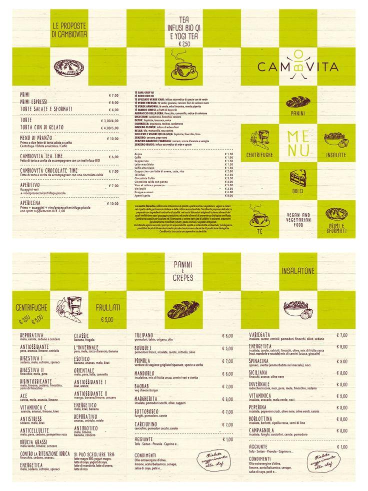 grafica e stampa - menu pieghevole - cambiovita