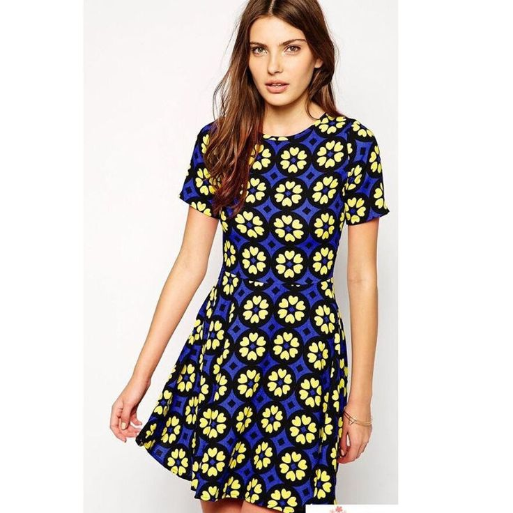 Women Sexy Fitted Floral Casual Dresses Evening Party Cocktail Prom Dresses Tops #DL #Sundress #Cocktail