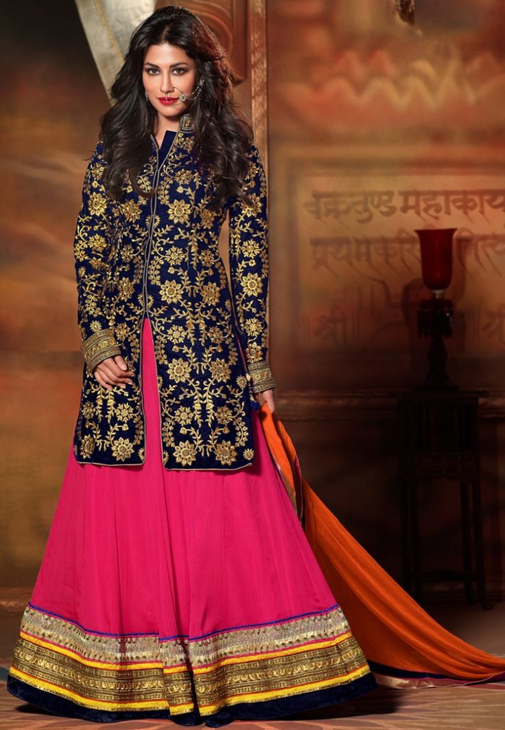 Pink Embroidered Lehengas at 24% OFF