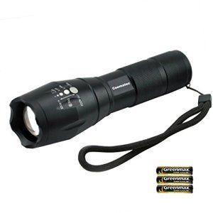 Coomatec Sd-100Lampe torche LED Zoom lampe torche tactique 900haute Lumens Ultra Lumineux militac portatif d'extérieur résistant à l'eau…