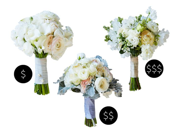 A Ranunculus Bridal Bouquet for Every Budget | Photo by: KATE MATHIS | TheKnot.com