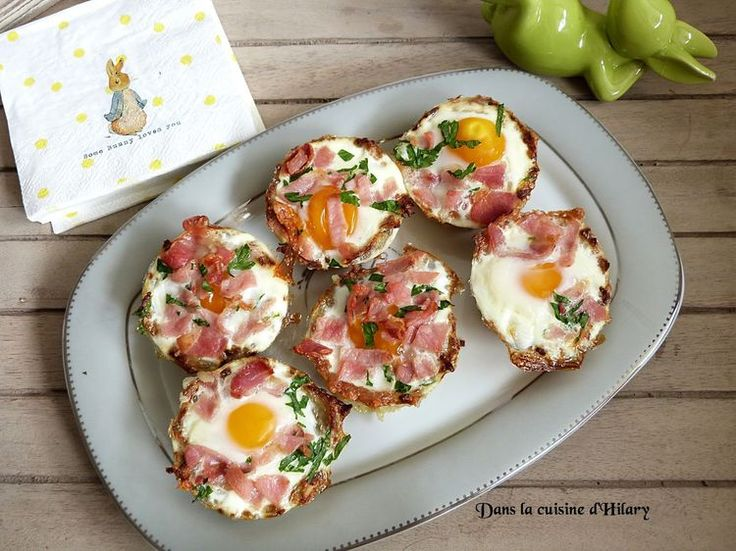 Découvrez la recette Oeuf cocotte au bacon en nid de pommes de terre sur cuisineactuelle.fr.