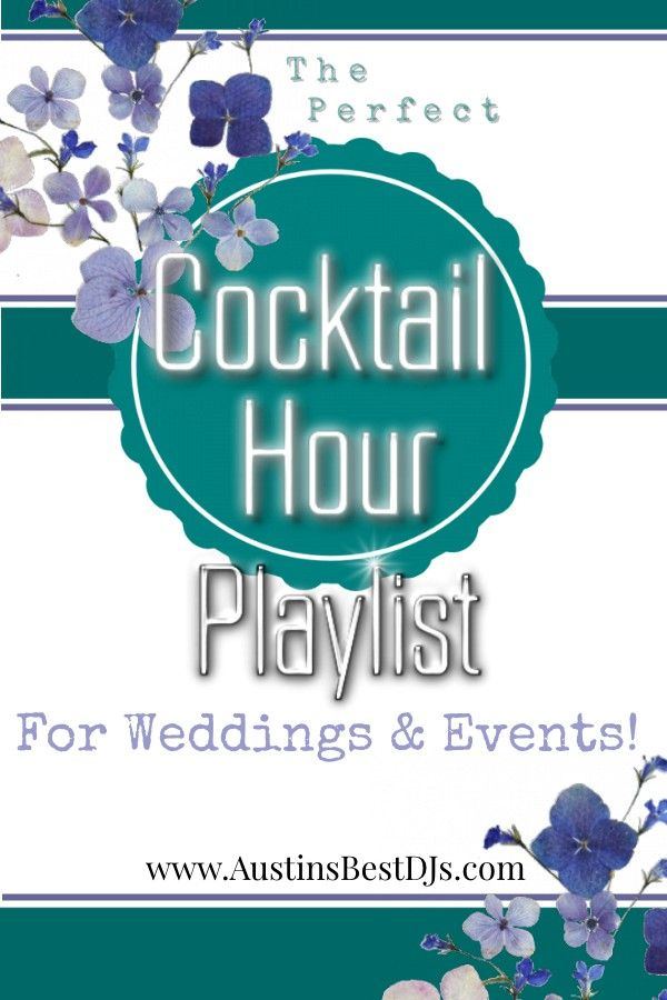 """When it comes to weddings and events, there areliterally hundreds of thousands of songs to choose from. A frequently asked question that we get is:""""What type of music do I play for the cocktail hour?""""The answer isn't always easy since everyone has their own unique taste and..."""