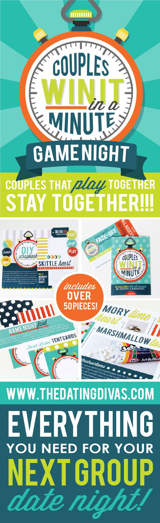 Love this couples game night idea- the date night challenges look so fun! www.TheDatingDivas.com