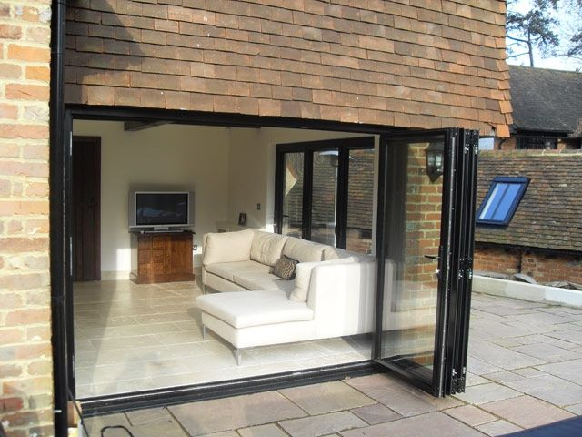 Charming Aluminium Bi Folding Patio Doors Modern Bi Fold Patio Doors Bi Fold Doors  Patio. Nashvilletech.co | Patio Furniture Ideas | Pinterest | Folding Patio  Doors, ...