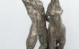 """Mowgli y Akela - detalle de frente de la #escultura en #bronce de estos personajes de """"El Libro de la Selva"""""""