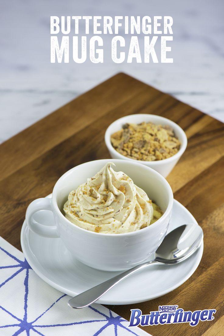 Butterfinger mug cake | 25+ mug cakes