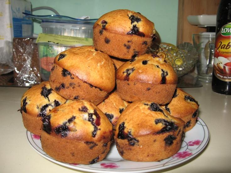 Tomek gotuje: Muffiny jagodowe / Tom cooks: Blueberry muffins