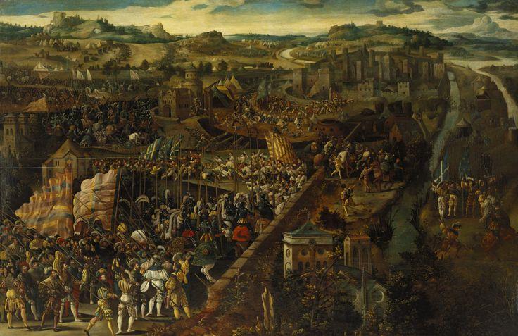 Unknown Flemish artist, Battle of Pavia 1525